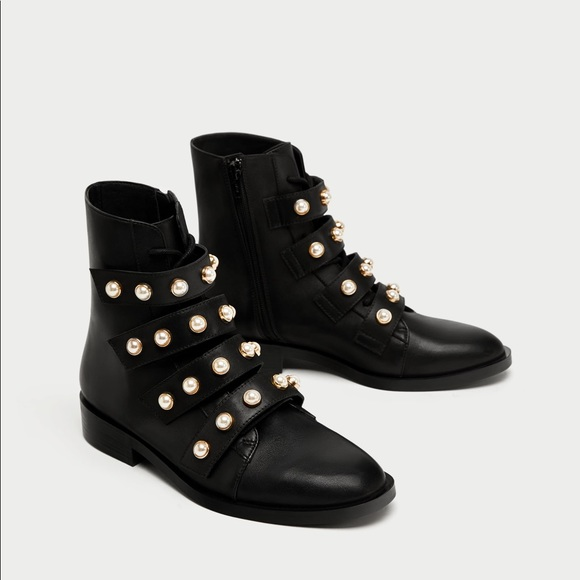 Zara Shoes Women With Pearls